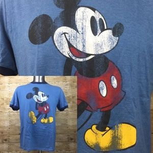 Disney Parks Graphic Tee Mickey Mouse Distressed
